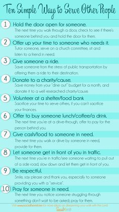 10 Simple Ways to Serve Pople. Making sacrifices to serve other people, is a… Bible Study Tips, Bible Lessons, Serving Others, Kindness Matters, Good Deeds, Love Others, Relief Society, Nurse Life, Spiritual Growth