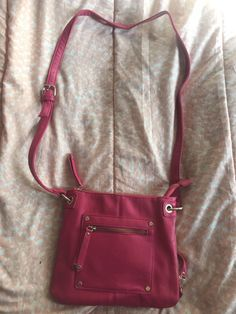a4db9ab73c Women s Pink Faux Leather - Crossbody Messenger Purse Bag. Felicia Fulkerson