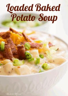 One Pot Loaded Baked Potato Soup Recipe Ashlee Marie Winter Holiday Comfort Food Potato Soup Real Food Recipes, Cooking Recipes, Yummy Food, Healthy Recipes, Healthy Soup, Easy Comfort Food Recipes, Healthy Comfort Food, Healthy Breakfasts, Vegetarian Recipes