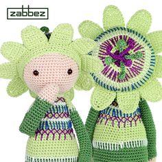 Amigurumi flower doll Passionflower Paz - crochet pattern by Zabbez