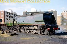 Bulleid original light pacific No. 34023 Blackmore Vale, in splendid condition but minus nameplates, at Nine Elms mpd on June 18th 1967 prior to pairing with 73029 on railtour duty.