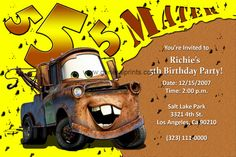 tow mater invitations