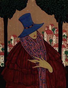 femme bleu chapeau - (Georgia O'keeffe)