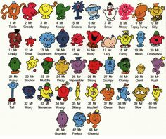 Remember these little books?  They are the Mr. Men series. I still have mine :-)