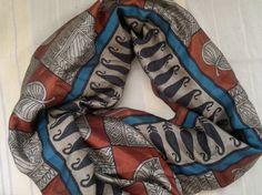 Scarf Indian Bhagalpuri Silk Sari Scarf Long Scarf