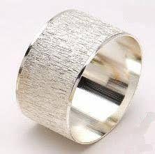 modern silver napkin rings