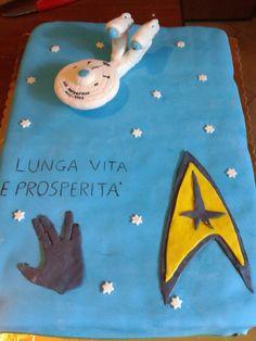 Torta compleanno di mio figlio - star trek cake
