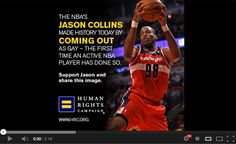 A song and slideshow dedicated to the first professional sports athlete to come out.  Thank you #JasonCollins, you are in demand Thank you Jason Collins, you da man Thank you Jason Collins, set the record straight See you on the court, what difference does it make?  #basketball #NBA #gay #comingout #HRC