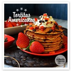 TORTITAS AMERICANAS CON CHIPS DE CHOCOLATE / PANCAKES WITH CHOCOLATE CHIPS