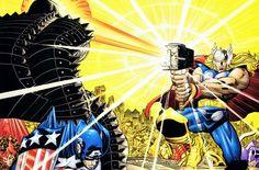 Thor vs Destroyer by John Romita Jr