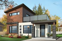 Two Bedroom Contemporary - 22399DR | Contemporary, Modern, Canadian, Metric, 1st Floor Master Suite, CAD Available, PDF | Architectural Designs