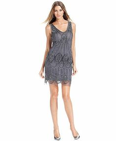 This dress has a lot going on (in the best way!)  Keep it simple with a simple bracelet accent - like one from Moon Star Adri's Cora Collection.  Pisarro Nights Dress, Sleeveless Beaded Shift #holidays #dress #bracelet