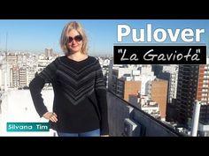 """Silvana Tim - Tejido con dos Agujas, puntos, patrones de tejido: Cómo tejer Pulóver (Jersey) """"La Gaviota"""" con dos a..."""