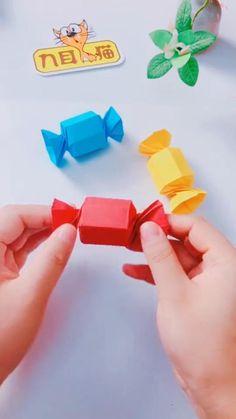 Diy Crafts For Home Decor, Diy Crafts Hacks, Diy Crafts For Gifts, Fun Crafts, Easy Preschool Crafts, Paper Crafts Origami, Paper Crafts For Kids, Diy Paper, Oragami