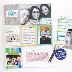 Jamie Leija for Elle's Studio: Monthly Memories Pocket Page  #scrapbook #projectlife #pocketpage #ellesstudio #stamping #jamieleija