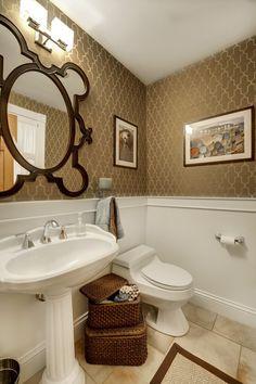 Half Bath Pedestal Sink Decorating Ideas   Google Search | Bath | Pinterest  | Pedestal Sink, Half Baths And Bath