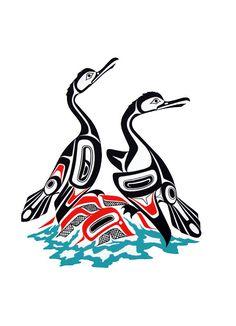 Cormorants  bird theme 1