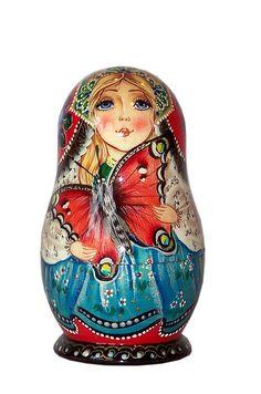Matryoshka Nesting Doll. Butterfly. http://www.pinterest.com/MatryoshkasSoap/one-of-a-kind-matryoshka/