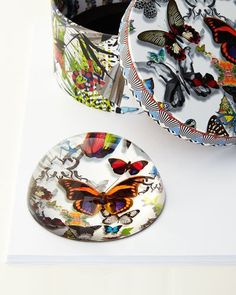 H7Q0C Christian Lacroix Butterfly Parade Paperweight