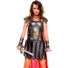 Medieval Warrior Queen Costume 70612 by Sky Hosiery Black, Size: Xtra Small