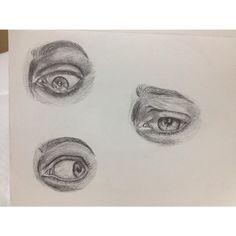 eyes. Pencil drawing.
