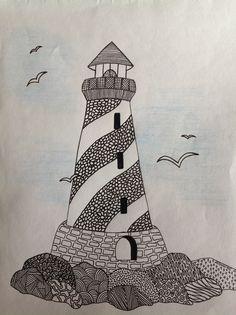 My lighthouse zentangle