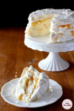 Cake nature fast and easy - Clean Eating Snacks Meringue Cake, Custard Cake, Polish Desserts, Polish Recipes, Cookie Recipes, Dessert Recipes, Sweets Cake, Pumpkin Cheesecake, Food Cakes