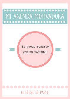 Organiza tu Tiempo: Agenda Motivadora + Planning Cosas Bonitas 2015