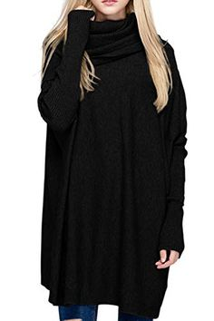 570feb9904fb Enjoy exclusive for BOBIBI Women Oversized Cowl Neck Sweaters Long Sleeve  Loose Fit Knitted Pullover online