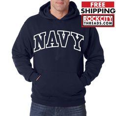 NAVY ARCHED HOODIE Military Sweatshirt Hooded Blend Seal US U.S.NAVY USNAVY USA #RockCityThreads #Hoodie
