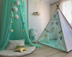Bed Canopy Chiffon baldachin Mint Canopy Kids Ceiling Hanging Tent Canopy for Nursery Kids Gree Kids Canopy, Kids Tents, Canopy Tent, Teepee Tent, Hanging Tent, Ceiling Hanging, Reading Nook Tent, Nursery Reading, Kids Reading