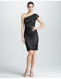 Women's David Meister Lace Cocktail...