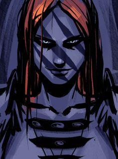 I like this art-style! Aela the Huntress - Elder Scrolls V: Skyrim
