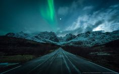 North Sky Aurora Location is Lofoten Archipelago, Northern Norway - By Stian Klo Lofoten, Beautiful Sky, Beautiful Pictures, Ghost Of You, To Infinity And Beyond, Belle Photo, Night Skies, Northern Lights, Scenery