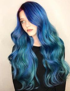 Pastel Blue Hair Color Ideas like these are certainly for all of the bravest ladies out there, nevertheless, if you have the guts to give it a chance to try, the reward just may be an abundance of compliments and double-takes. Take a look and have fun! Pastel Blue Hair, Hair Color Blue, Hair Colors, Colorful Hair, Pelo Color Azul, Ayurvedic Hair Oil, Pulp Riot Hair Color, Cotton Candy Hair, Mermaid Braid