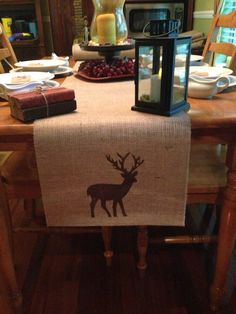 Burlap Table Runner  14 x 84 by CreativePlaces on Etsy, $15.00