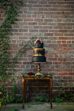 Halloween Wedding Shoot in an Abandoned Warehouse - and the perfect Halloween gothic wedding cake!