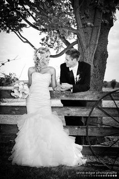 Sweet Country Wedding, we will even have a fence like this too sweet!!!Photography
