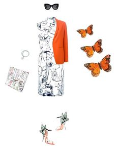 """Fly my butterfly....."" by miyoshi-alexis ❤ liked on Polyvore featuring Emilio Pucci, Sophia Webster, Alberto Biani, Tiffany & Co. and Karen Walker"