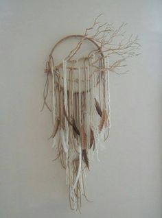 Natural tree dream catcher