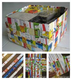 Basket | 31 Things You Can Make Out Of Cereal Boxeshttp://www.cucicucicoo.com/2010/05/cestini-da-carta-riciclata-prova-1-e/