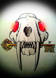 SABERTOOTH SKULL KEY TATTOO INSPIRATION BY LPT