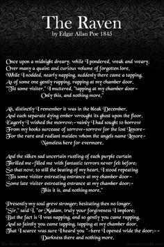 Edger Allen Poe - The Raven - Nevermore - Print 5x7 Letterpress ...