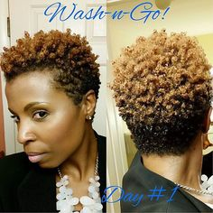 @1marci_ This is a Wash & Go that I did this morning before work. #hair2mesmerize #naturalhair #healthyhair