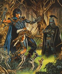 Dragonlance.. Kitiara and Lord Soth in Shoikan Grove :3