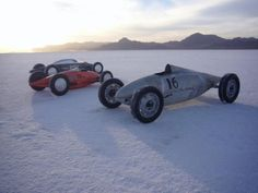 Belly Tankers, at the Bonneville Salt Flats.  In Salt Lake City,  Utah.  The name Boneville derives from the ancient salty lake Boneville that once covered this entire area.