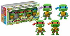 Amazon.com : Funko POP Television Glow TMNT Vinyl Figure, 4-Piece [Amazon Exclusive] : Action Figures : Toys & Games