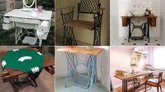 Ideas para reutilizar máquinas de coser antiguas #bricolaje #maquina #coser #diy