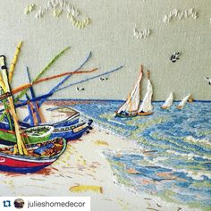 @julieshomedecor #ricamo #embroidery #broderie #bordado #crewel #handmade #needlework