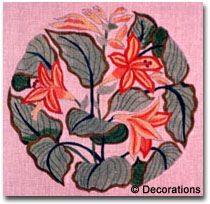 "D-24  Lilies & Leaves #13 Mesh, 12 1/2"" Circle"
